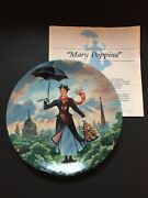 Knowles China Walt Disney Mary Poppins Collector Plates Complete 6 Piece Set Coa