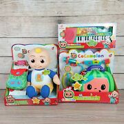 New Cocomelon Talking Jj Doll And Cocomelon Musical Keyboard School Bus Bundle Toy