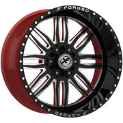 4-forged Xfx-303 24x14 6x135/6x5.5 -76mm Black/milled/red Wheels Rims 24 Inch