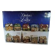 Dickens Of London 10 Porcelain Collectables Illuminated Miniature Houses 1991 Rd