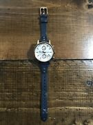 Womens Fossil Boyfriend Watch Rose Gold And Navy Blue