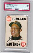 1968 Topps Game Card - 8 - Willie Mays - Psa 6 - 4304