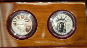 2007 Platinum Eagle 2-coin Set W Box And Coa - Proof And Reverse Proof Ultra Nice