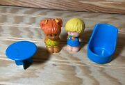 Vintage 1975 Kenner Tree Tots Family Treehouse Girl Honey Daughter And Boy Figure