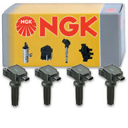 4 Pc Ngk Ignition Coils For 2013-2019 Ford Escape 2.0l L4 Spark Plug Wire Ln