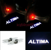 2x No Drill Cree White Led Laser Projector Welcome Door Lights For Nissan Altima