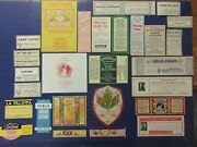 27+old Cosmetic Beauty Antique Medicine Bottle Labels=lotions=really Nice Lot