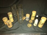 Lot Of Antique Gas Lantern Parts. Welsbach Suprex Imperial Mantles Chimneys