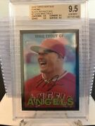 2016 Topps Heritage Chrome--black Refractor--mike Trout--/67--bgs 9.5 Gem Mint