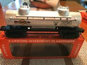 Vintage Lionel 2465 Sunoco 2-dome Tank Car,w/electric Coil Couplers