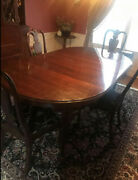 Ethan Allen Table And 4 Chairs And 2 Tiers