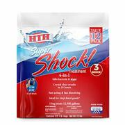 Hth 52026 Super Shock Treatment Swimming Pool Chlorine Cleaner, 1 Lb Pack Of 12