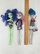 8 Monster High Dolls Loose Dressed Missing Parts Horse Spider 4 Repair Lot A