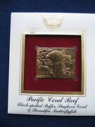 Butterflyfish Coral Puffer Staghorn Threadfin Replica Gold Golden Cover Stamp