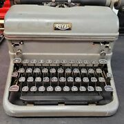 Royal Touch Control Vintage Typewriter Black Keys Tested Works Local 11224 Ny