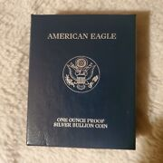 2003-1 Oz Proof Silver American Eagle W/box And Certification Excellent Condition