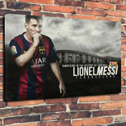 Lionel Messi High-class Canvas Art Poster 76x50 Big Goods Fashionable Interior