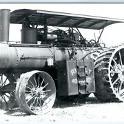C1950s Rumely 40-140 40hp 1910s Steam Tractor Engine Rppc Photo Vtg Steamer A11
