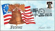 Hand-drawn Hand-painted 2008 Liberty Bell Forever Stamp Fdc By Mary Kay Fisher