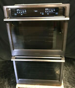 Samsung Nv51k6650dg 30 Electric Double Wall Oven Steam Dual Convection Blk Ss