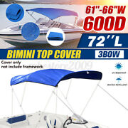 61and039and039-66and039and039w 3 Bow Bimini Top Replacement Canvas Cover Boat Speedboat No Frame