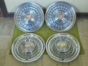 1958 Cadillac Hub Caps 15 Set Of 4 Caddy Wheel Covers Hubcaps 58