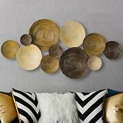 Solids Geometric Round Metal Wall Decoration Home Art And Kitchen Gifts For