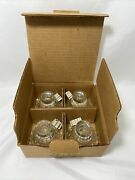 Set Of 4 Homco Home Interior Crystal Clear Glass Taper Or Votive Candle Holder
