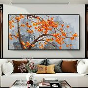 Contemporary Abstract Painting Persimmon Tree Wall Art Poster And Print