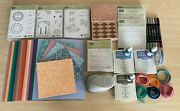 Stampin Up Lot Paper, Stamps, Ribbon, Dies, Stamp Pads And More - Pre Owned