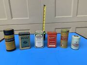 Lot Of Vintage French Pharmaceutical Medical Advertising Tins