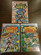 Nick Fury And His Agents Of Shield 2, 4, 5  Bronze Age 20-cent Covers F+
