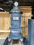 Antique Round Oak Stove - Pd Beckwith