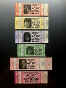 Ac/dc Concert Movie Ticket Stubs 1982 Lot Of 6 / Let There Be Rock Bon Scott