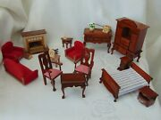 Mixed Job Lot Vintage Dolland039s House Furniture Incl Wooden Items And Epoch
