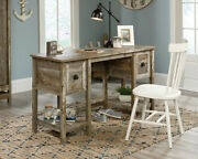 Rustic Wood Desk Farmhouse Computer Writing Table With Storage Drawers And Shelves