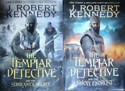 2 Book Lot J. Robert Kennedy The Templar Detective Paper Back 2018 First Edition