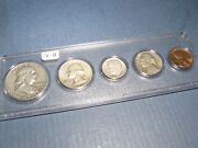 1958 D Denver Mint 90 Silver Birth Year Matched 5 Coin Set Circulated