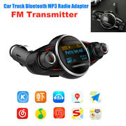 Universal Car Wireless Bluetooth Fm Transmitter Mp3 Player Usb Charger Adapter