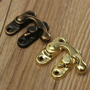 5x Antique Metal Catch Curved Buckle Horn Lock Clasp Hook Jewelry Box Padloy`ru