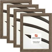 Farmhouse Essentials Tall .75 Brown And Gray Wood Picture Frame 4-pack