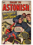 Tales To Astonish 35 1962 - Grade 4.5 - 1st Appearance Of Ant-man In Costume
