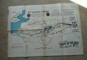 Ww2 Wwii 89th Infantry Division Route Of The 89th Map Original 1945 France