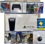 Ps5 -playstation 5 Console Disc Version Bundle 8 Games+ 🎧and Ps+ 🎮 Fast Ship🚀📦