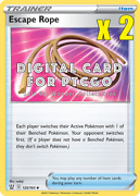 2x Pokemon Escape Rope Trainer 125/163 - Ptcgo Digital Cards Sent In-game