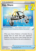 2x Pokemon Exp. Share Tool 126/163 - Ptcgo Digital Cards Sent In-game