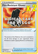 2x Pokemon Fire Resistant Gloves Tool 138/198 - Ptcgo Digital Cards Sent In-game