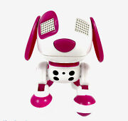 Zoomer Zoomie Pink Robot Interactive Dog By Spin Master Puppy Toy