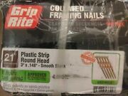 Grip Rite Plastic Strip Round Head Collated Framing Nails