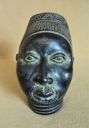 Antique Terracotta Ife Benin King Bust African Carving Statue Extremely Rare